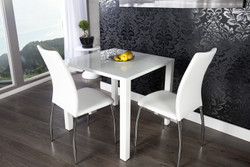 Contemporary Design Dining table white glossy 80 x 80 cm of Casa Padrino - dining table