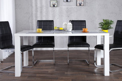 Contemporary Design Dining High Gloss White 140 cm of Casa Padrino - dining table