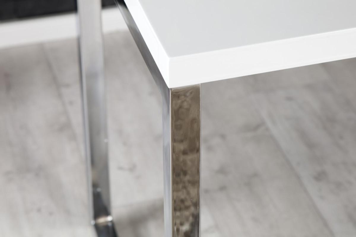 Schreibtisch weiß hochglanz 140  Casa Padrino Designer Schreibtisch Weiss Hochglanz 140 cm ...
