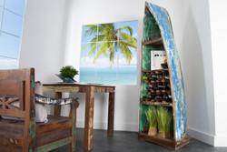 Casa Padrino Vintage wine rack cabinet boat teak - 100% recycled waste wood