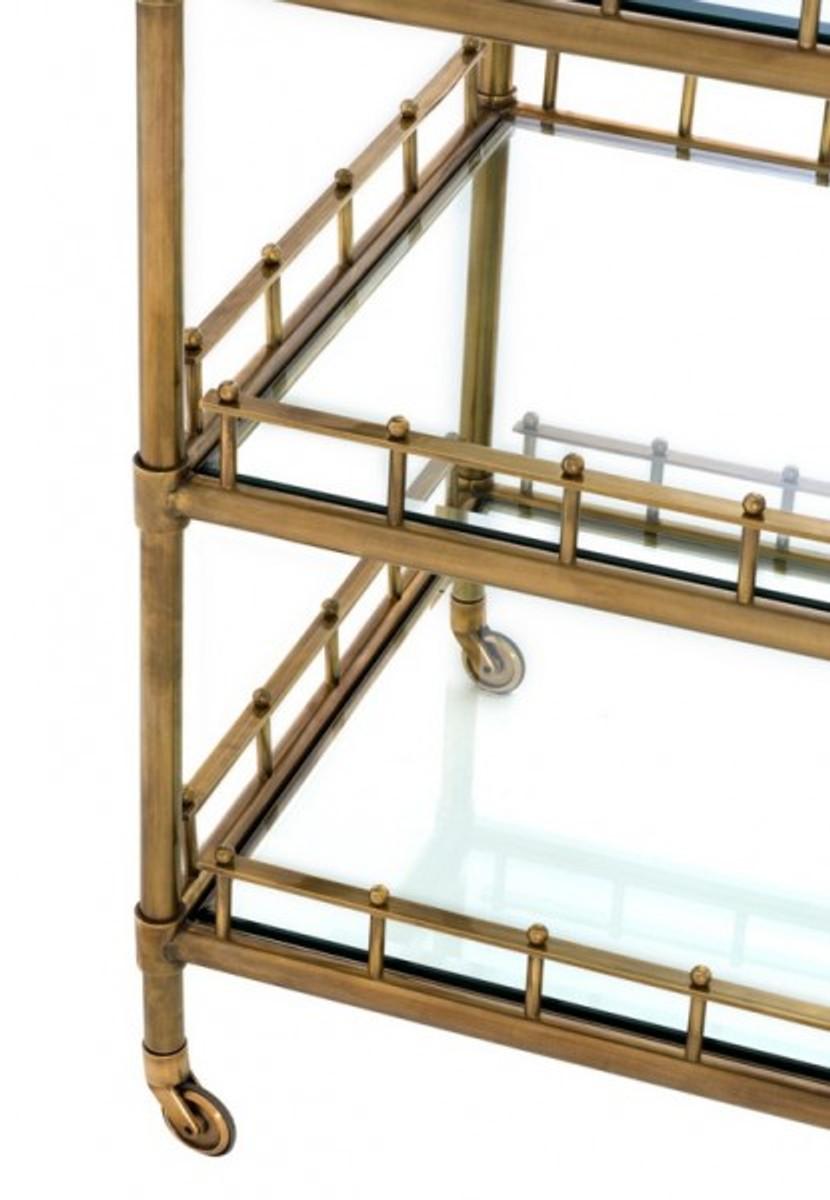 casa padrino luxus bar trolley servierwagen messing antikstil geschliffenes glas luxus hotel. Black Bedroom Furniture Sets. Home Design Ideas