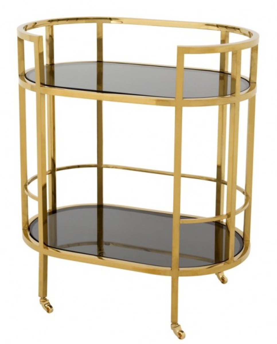 Casa Padrino Luxury Bar Trolley Stainless Steel Gold