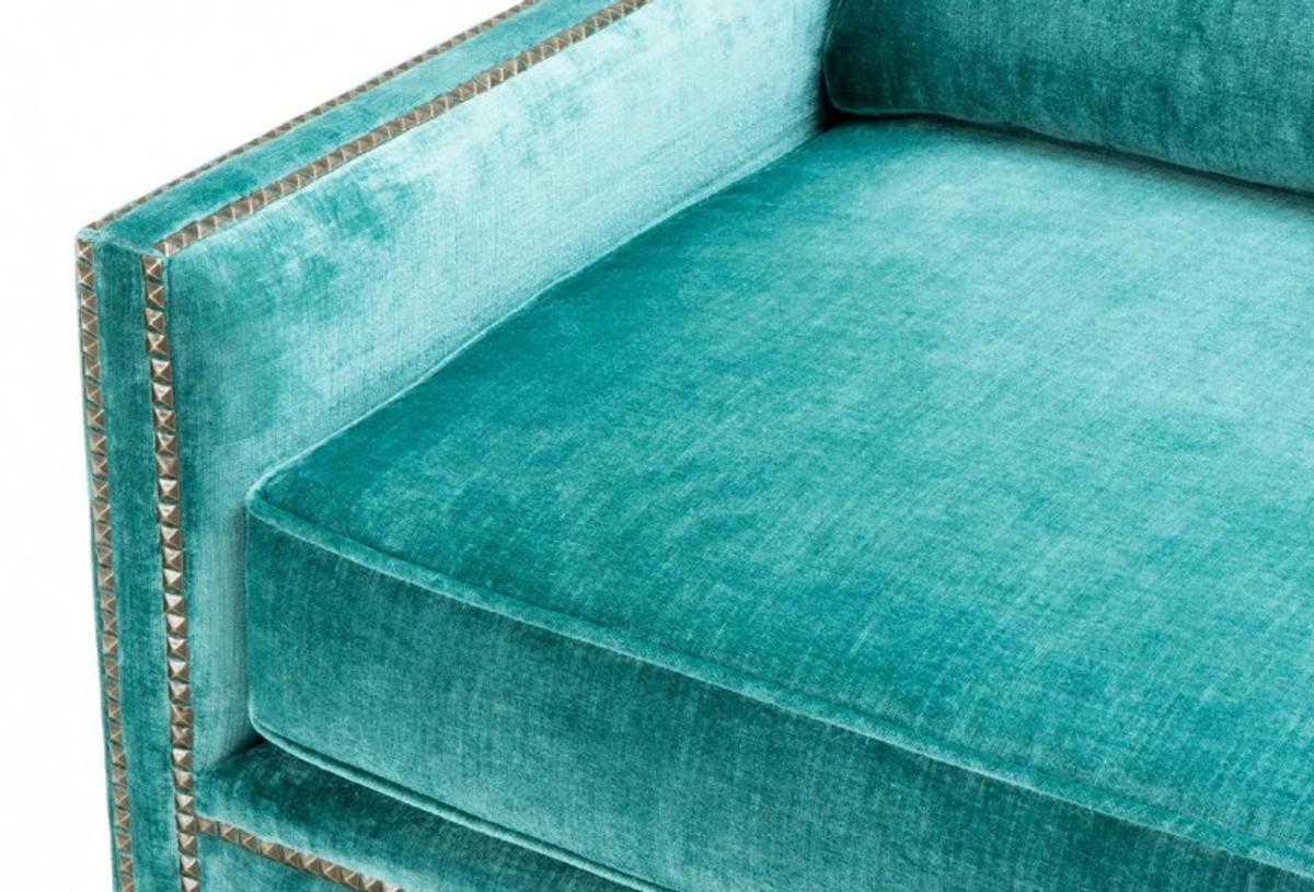 Casa Padrino Luxus Belle Epoche 2er Sofa Turkis Grun Jugendstil
