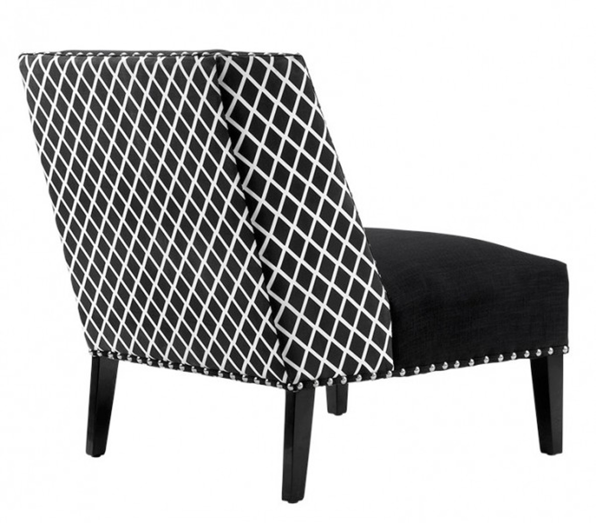 Casa Padrino Luxus Art Deco Sessel Schwarz Weiß Jugendstil Belle