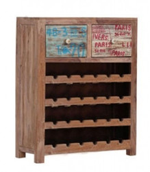 Casa Padrino wine cabinet with 2 drawers - Antique style vintage look wood