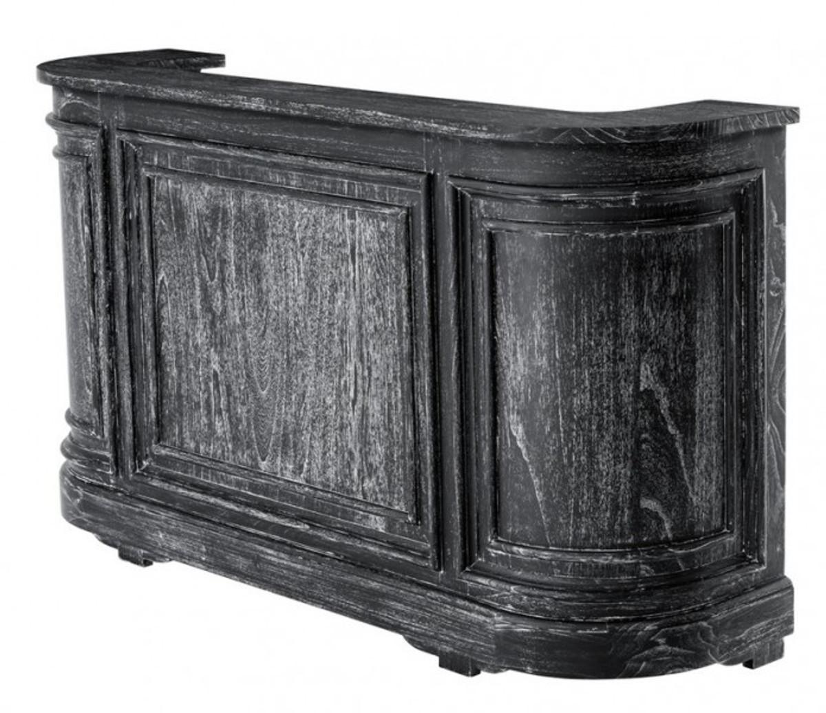 Büroschrank weiß antik  Casa Padrino Vintage Look Theken Schrank 190 cm Theke Schwarz ...