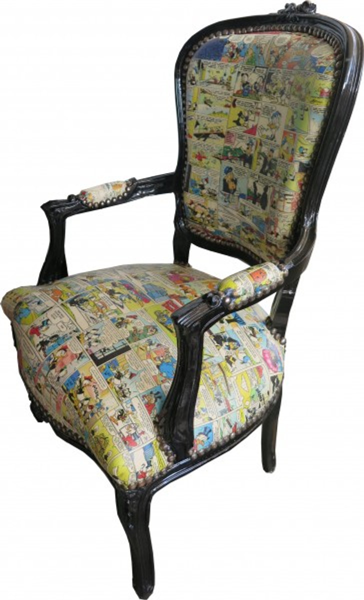 casa padrino barock salon stuhl comic design schwarz m bel antik stil st hle barock st hle. Black Bedroom Furniture Sets. Home Design Ideas