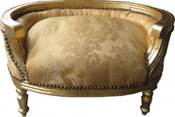 Casa Padrino Baroque Dogs & Cats Sofa Gold Bouquet pattern / Gold - Dogs chair seat dog bed cat bed dog cat furniture