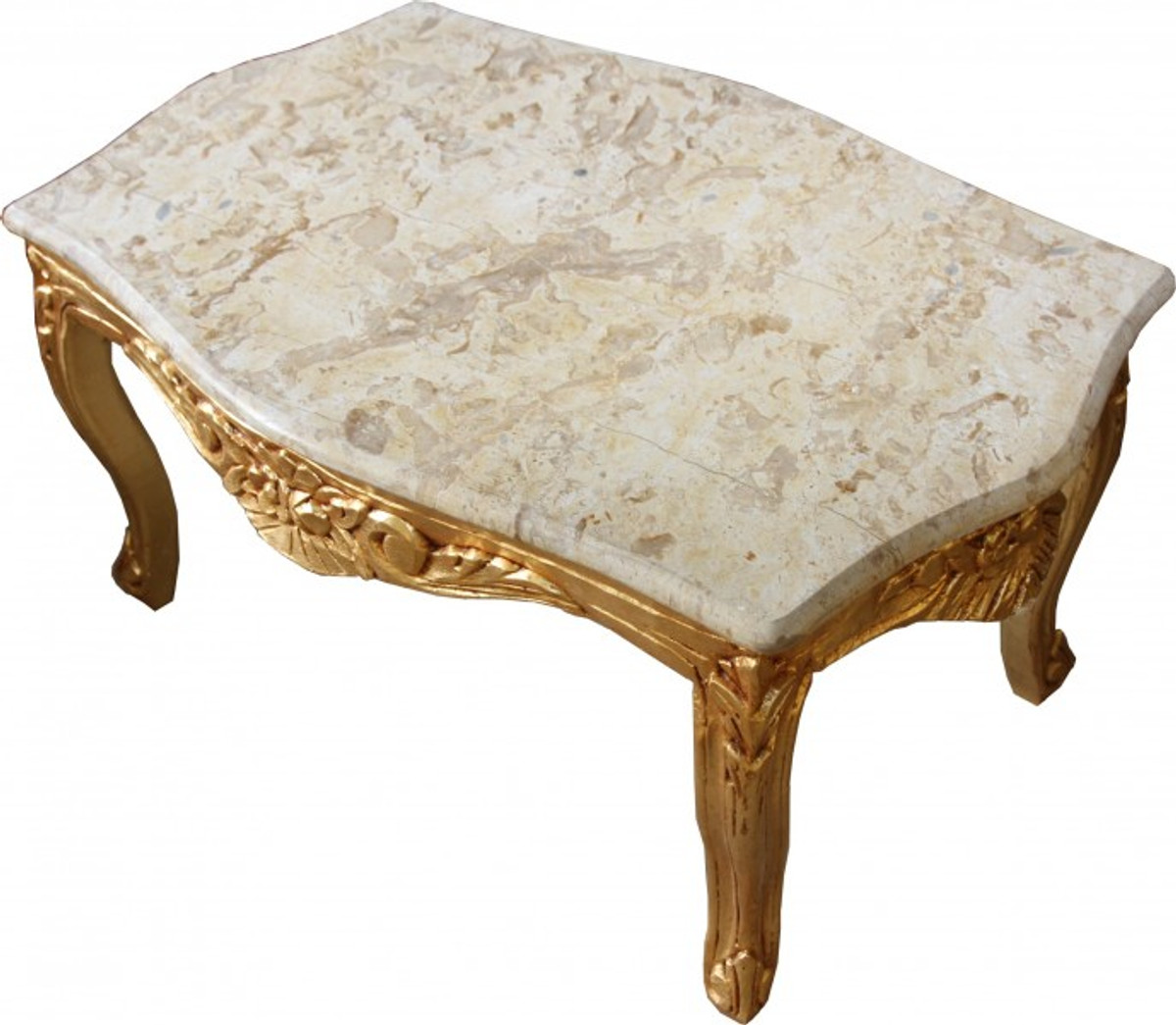 - Casa Padrino Baroque Coffee Table Gold With A Cream Marble Top 99