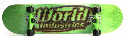World Industries Skateboard Komplettboard Green / Black Logo 8.0 x 32.125 inch - Komplett Skateboard