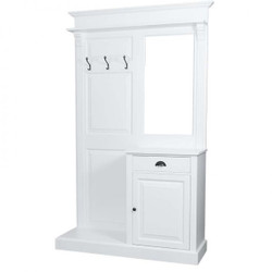 Casa Padrino wardrobe with mirror and cupboard - country style wardrobe