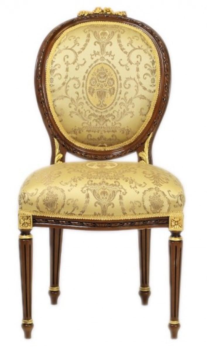 Casa padrino luxury baroque dinner chair louis xiv gold for Barock stuhl