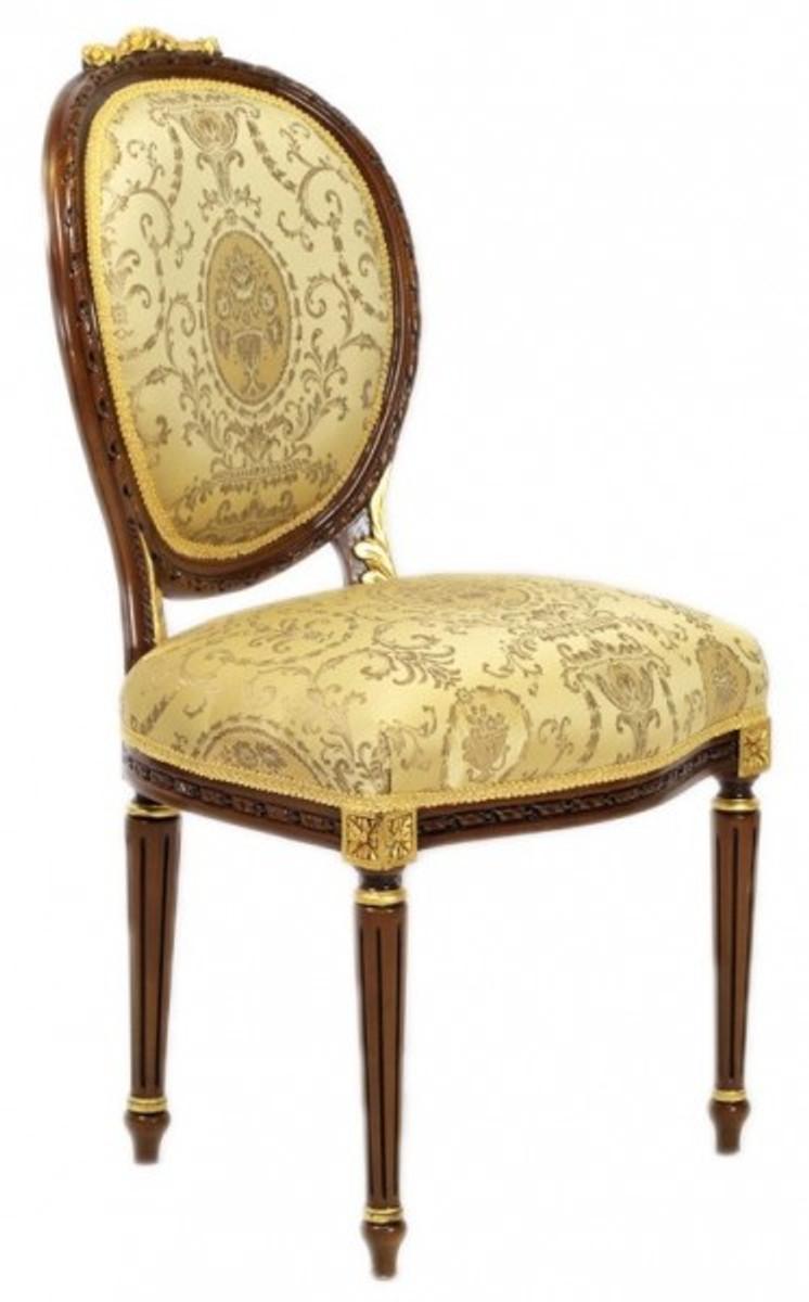 Casa Padrino Luxus Barock Esszimmer Stuhl Ludwig Xv Gold Muster