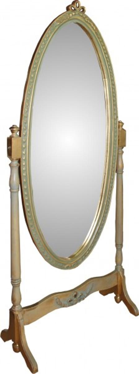 casa padrino barock standspiegel schwenkbar gr n gold antik look spiegel gold barock shabby. Black Bedroom Furniture Sets. Home Design Ideas