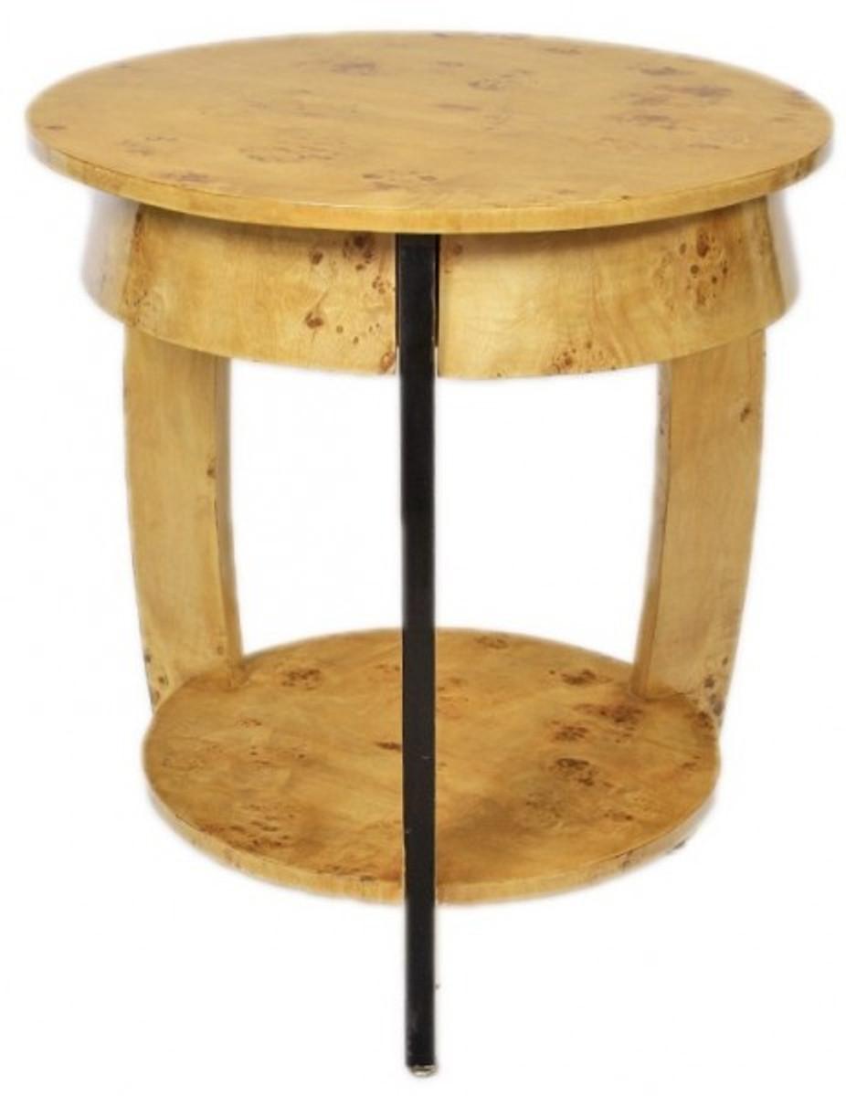 Casa Padrino Art Deco Beistelltisch Vogelaugen Ahorn H65 X 75cm   Ludwig  XVI Antik Stil Tisch