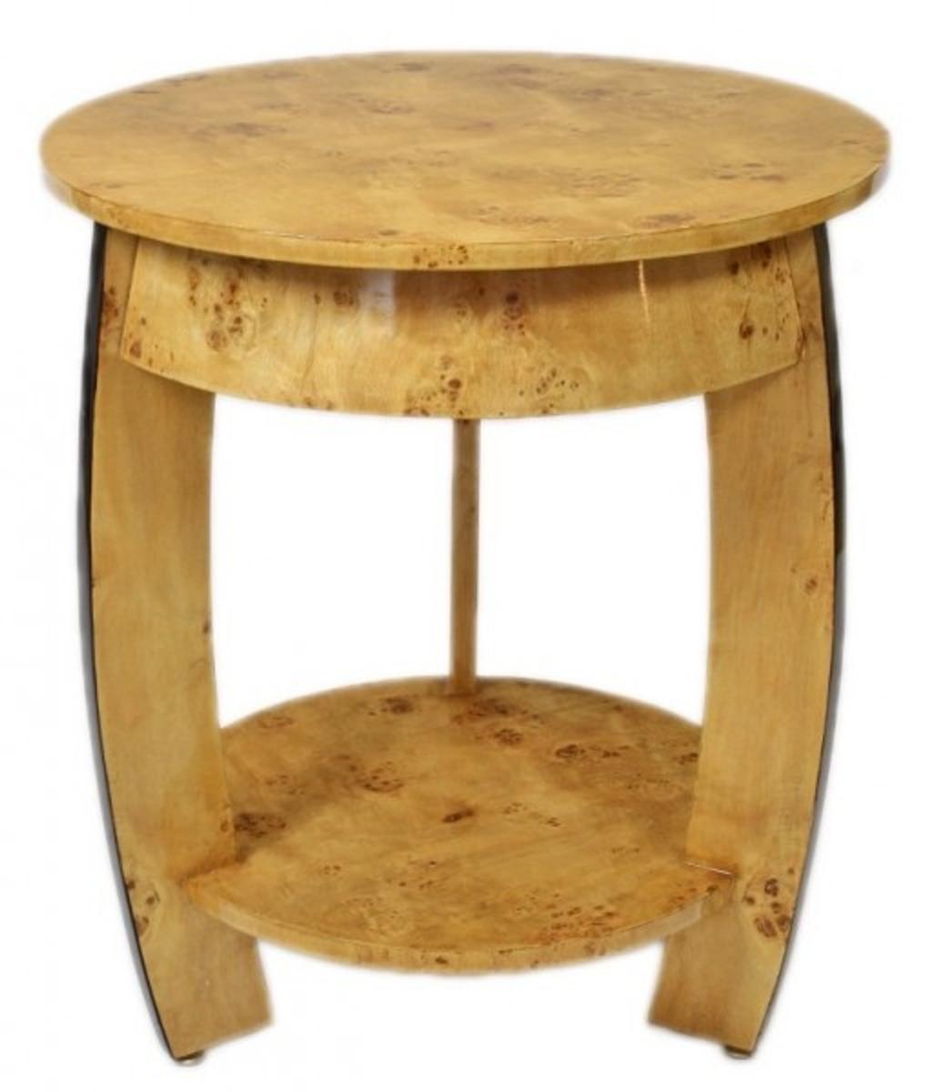 Casa Padrino Art Deco Beistelltisch Vogelaugen Ahorn H65 X 75cm   Ludwig  XVI Antik Stil Tisch   Möbel