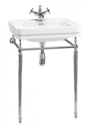 Casa Padrino Nouveau Stand Vanity White / Chrome Mod 4 - Art Deco washbasin baroque antique style