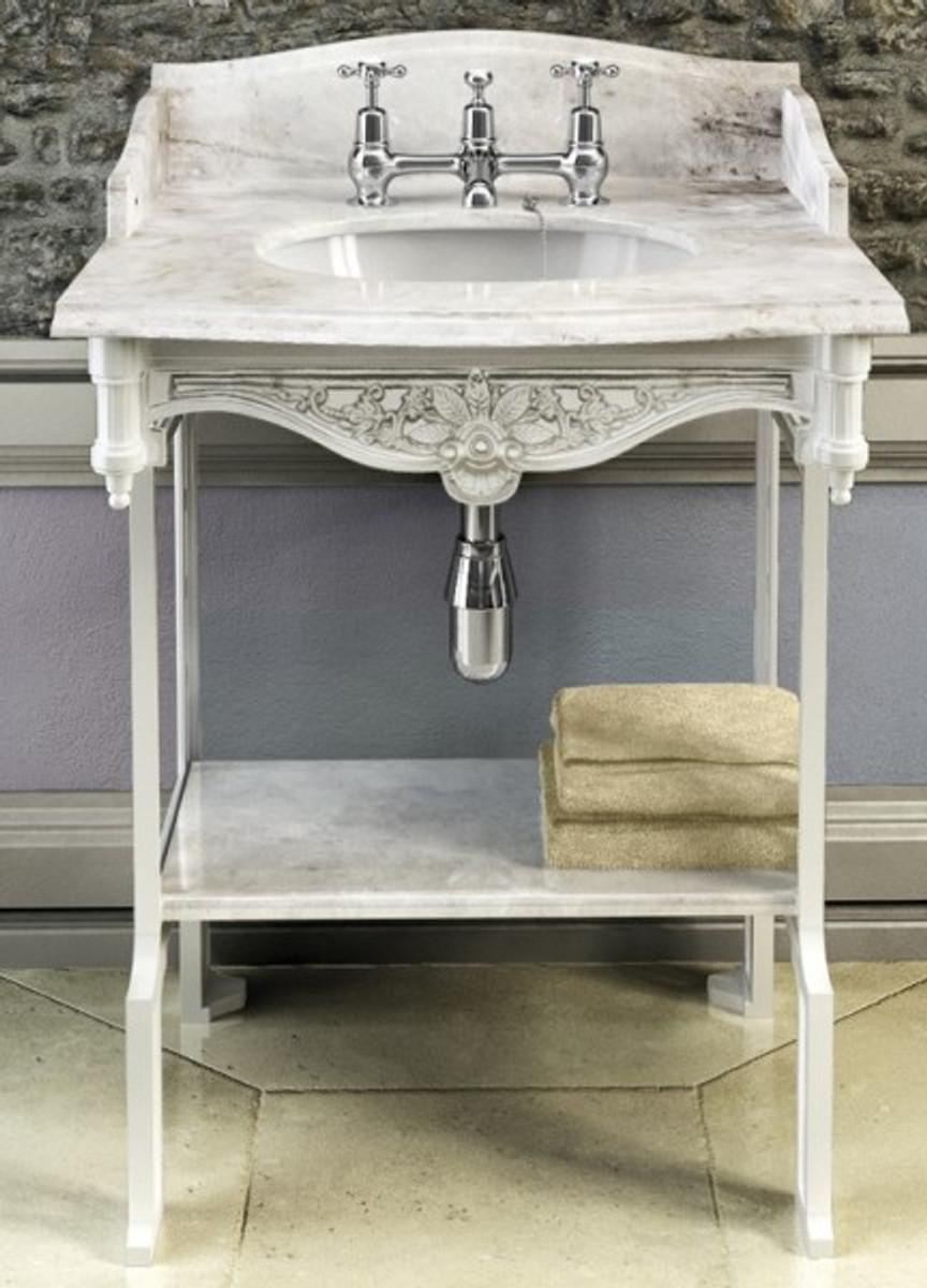 badezimmermobel weis antik, casa padrino luxus jugendstil stand waschtisch weiß / weiß mit, Design ideen