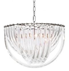 Casa Padrino Art Deco Murano Suspension lamp 50 cm x H 33 cm Furniture Chandelier Chandelier pendant light hanging lamp