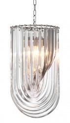 Casa Padrino Art Deco Murano Suspension lamp 35 cm x H 65 cm Furniture Chandelier Chandelier pendant light hanging lamp