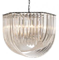 Casa Padrino Art Deco Murano Suspension lamp 65 x 75 cm x H55 cm Furniture Chandelier Chandelier pendant light hanging lamp