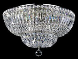 Casa Padrino Baroque crystal ceiling chandelier nickel 46 x H 32 cm antique style - Furniture Chandelier Chandelier pendant light hanging lamp