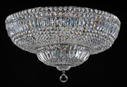 Casa Padrino Baroque crystal ceiling chandelier nickel 60,5 x H 35 cm antique style - Furniture Chandelier Chandelier pendant light hanging lamp