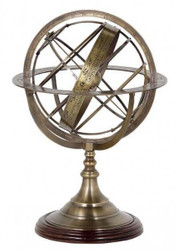 Casa Padrino luxury globe brass Height: 52 cm - Luxury Collection - Art Deco decorative globe