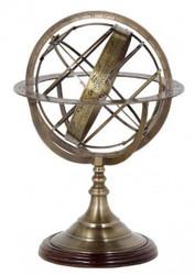 Casa Padrino Luxus Globus Messing Höhe: 52 cm - Luxus Kollektion - Art Deco Deko Globus