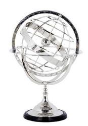 Casa Padrino luxury globe Nickel Finish Silver Height: 29 cm - Luxury Collection - Art Deco