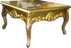 Casa Padrino Baroque coffee table 70x70 cm Gold - coffee table - coffee table - side table - furniture