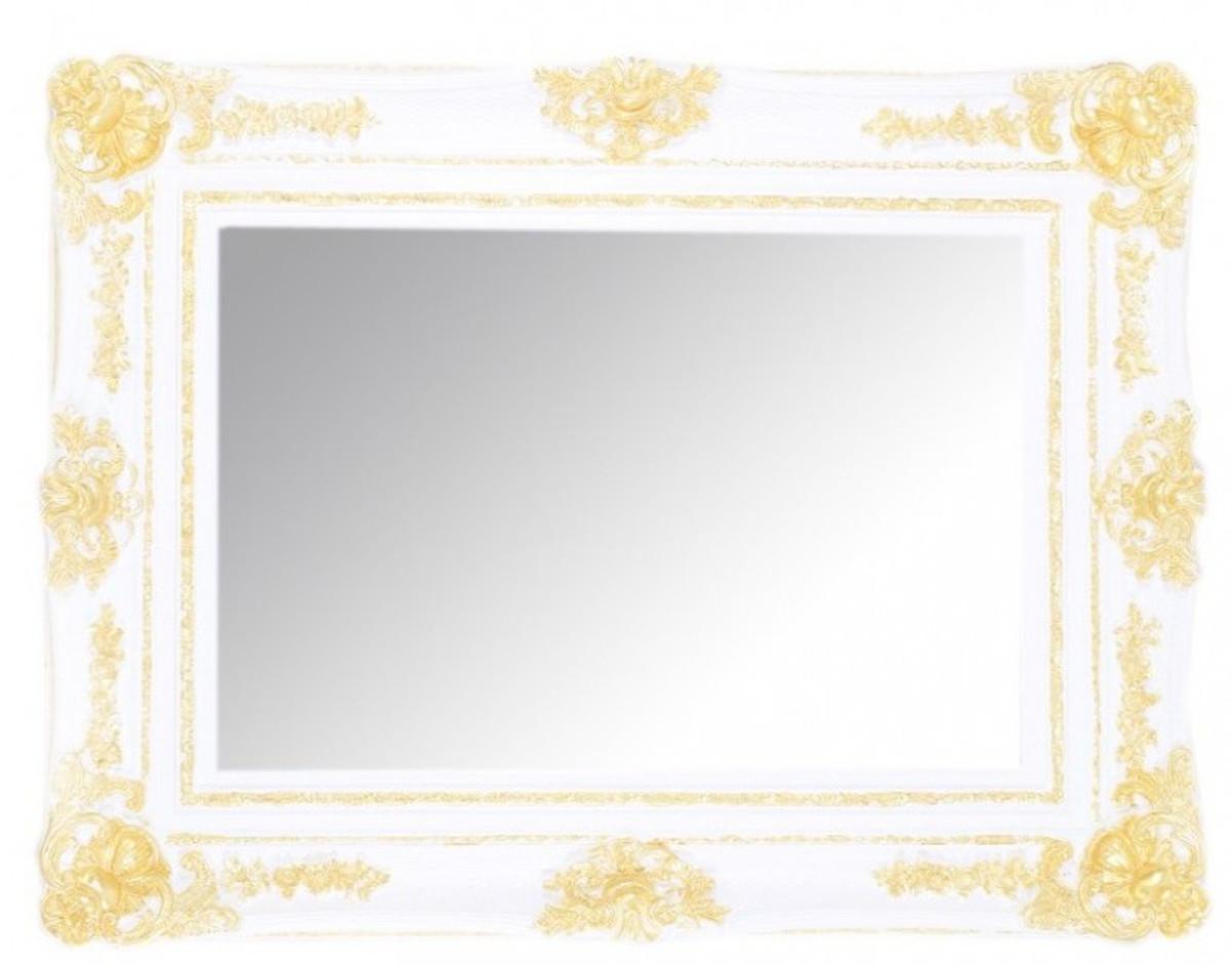 Casa Padrino Barock Wandspiegel Weiß Gold Höhe 130 Cm Breite 96