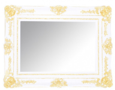 Casa Padrino Baroque wall mirrors White / Gold Height 130 cm, width 96 cm - Edel & Sumptuously – Bild