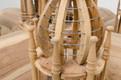 Casa Padrino Baroque palace Bird hand carved from mahogany H190cm - aviary bird cage antique style – Bild 3