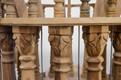Casa Padrino Baroque palace Bird hand carved from mahogany H190cm - aviary bird cage antique style – Bild 5