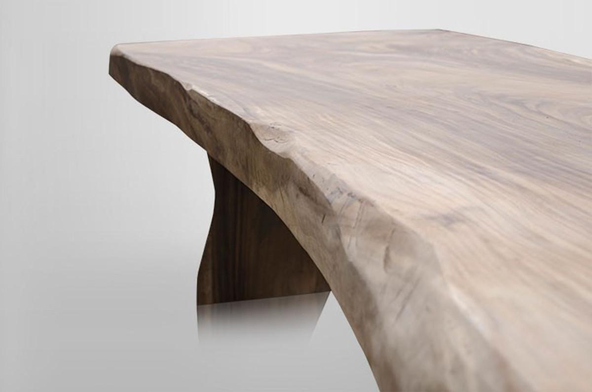 Casa Padrino Massivholz Baumstamm Esstisch Soar Holz - Massiver Esstisch  Extra Lang