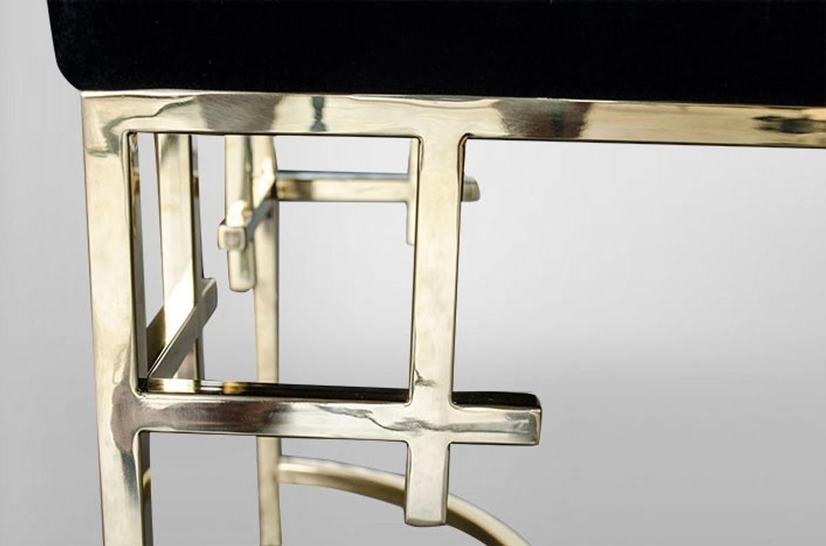 Casa padrino art deco in acciaio sgabello di lusso in oro mobili