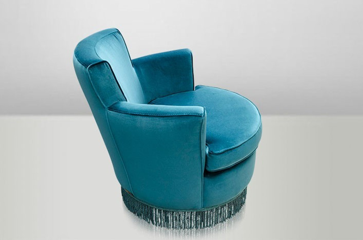 Casa padrino luxury art deco lounge chair blue luxury collection art nouveau belle epoque - Deco lounge blue duck ...