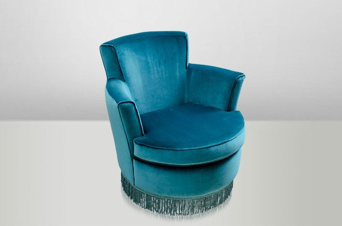 Casa Padrino Luxus Art Deco Lounge Sessel Blau - Luxury Collection ...