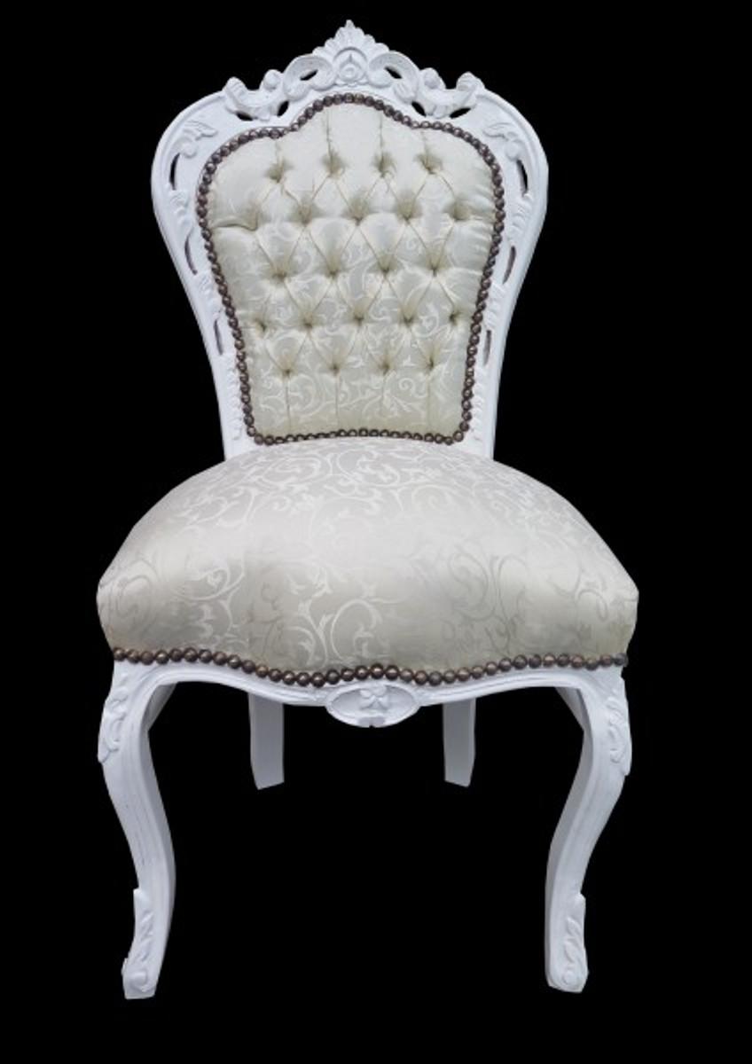 casa padrino barock esszimmer stuhl weiss muster wei antik m bel limited edition st hle. Black Bedroom Furniture Sets. Home Design Ideas