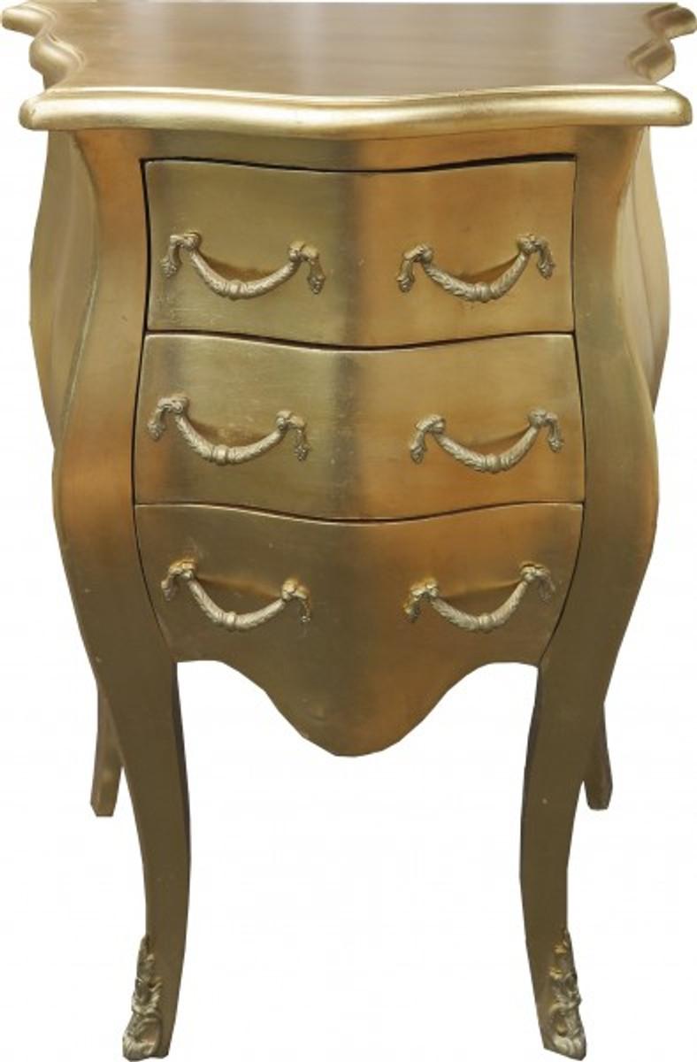 Casa Padrino Barock Kommode Gold H 70 Cm B 50 Cm Nachttisch
