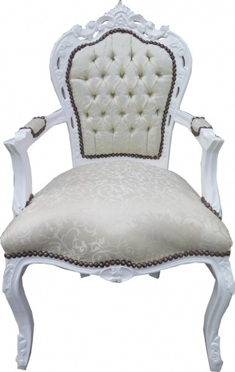 casa padrino barock esszimmer set 4 st hle 2 st hle mit armlehnen m bel antik stil casa. Black Bedroom Furniture Sets. Home Design Ideas
