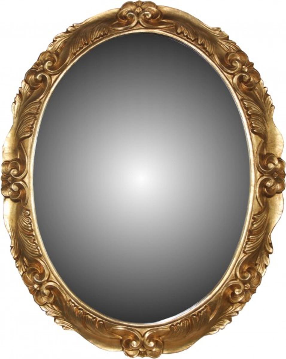 casa padrino barock wandspiegel aus italien gold oval b 101 cm h 81 cm edel prunkvoll. Black Bedroom Furniture Sets. Home Design Ideas