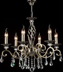 Casa Padrino Baroque crystal ceiling chandelier bronze 63 x H 56 cm antique style - Furniture Chandelier Chandelier pendant light hanging lamp
