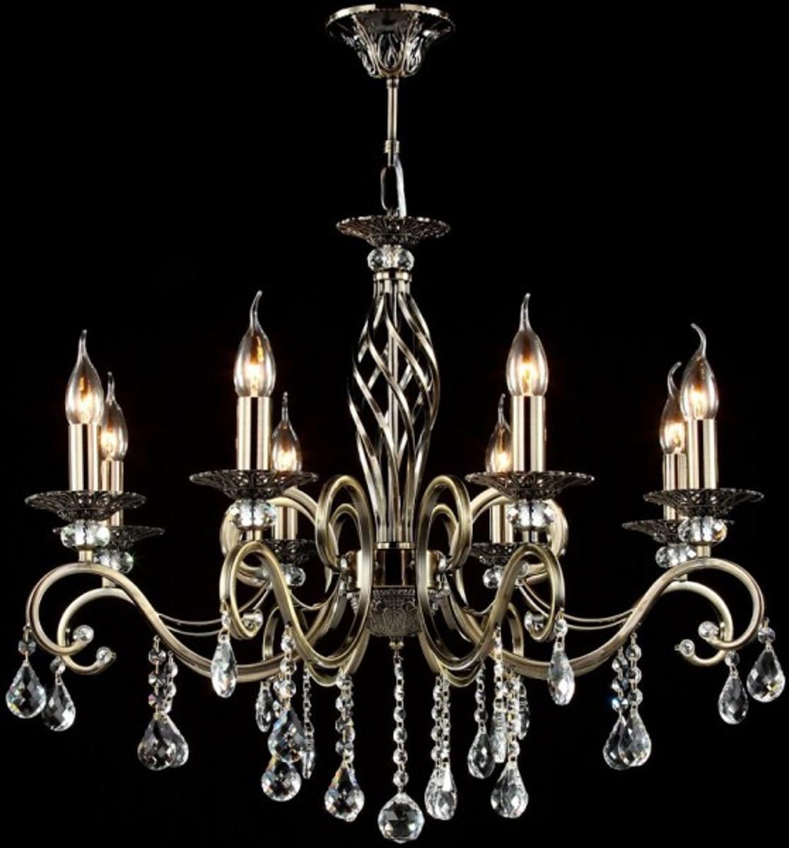 Casa padrino barock kristall decken kronleuchter bronze 72 x h 59 cm antik stil m bel l ster - Kronleuchter barock ...