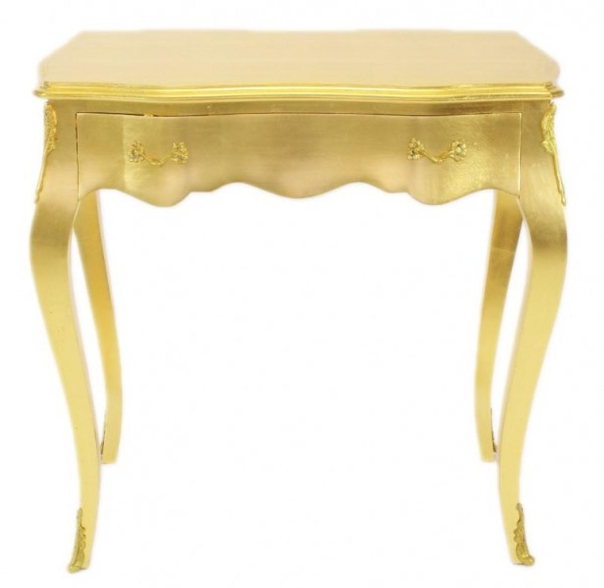Casa Padrino Barock Konsolen Tisch Gold Mit Schublade 80 X 40 Cm