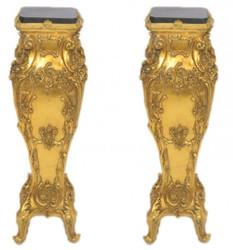 Casa Padrino Baroque marble columns Set Gold / Black - marble column (2 pcs)