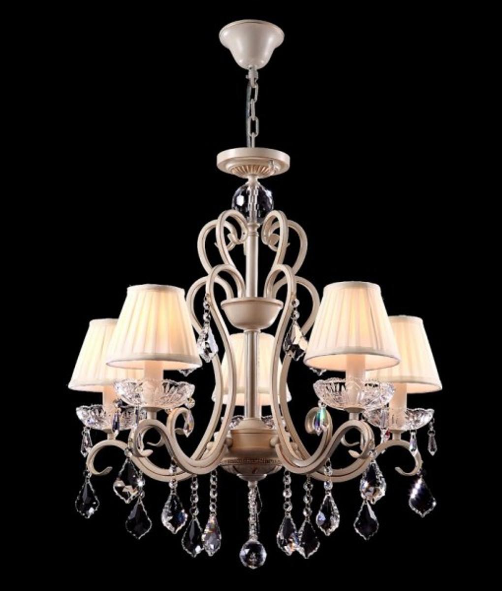 Erstaunlich Casa Padrino Barock Kristall Decken Kronleuchter Cream Gold 63 X H 70 Cm  Antik Stil