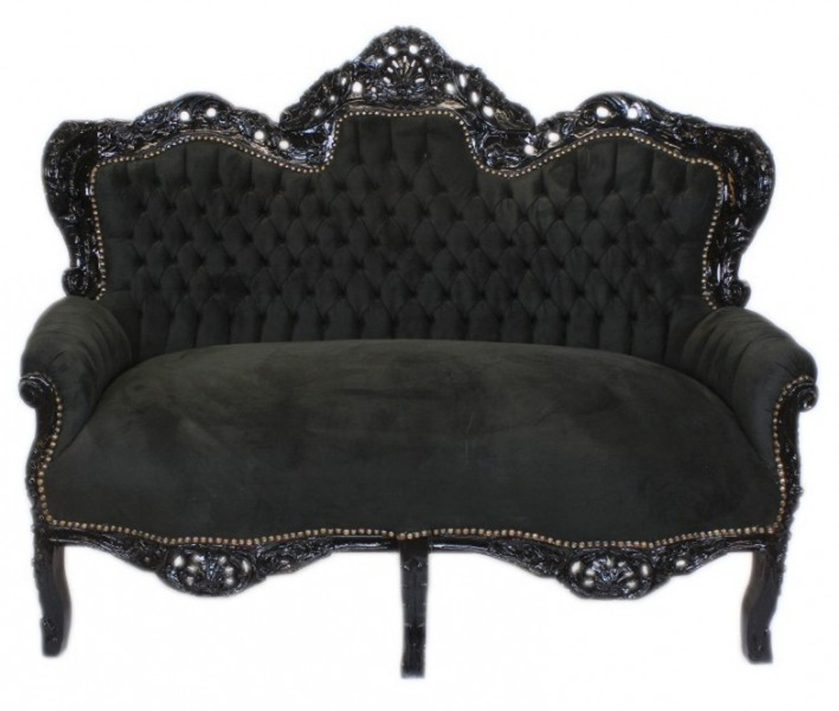 casa padrino barock wohnzimmer set king schwarz schwarz 2er sofa 2 sessel casa padrino. Black Bedroom Furniture Sets. Home Design Ideas