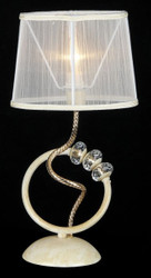 Casa Padrino luxury crystal table lamp white gold / lampshade white 22 x 44 cm - lamp - Luxury Collection